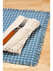 100% Cotton Mountain Weave Placemats in Traditional Pattern: Both Quality & Style