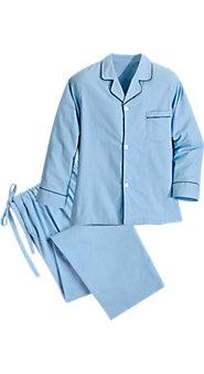Men's 100% Cotton Flannel Button-Front Pajamas