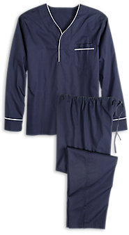 Men's 100% Cotton Broadcloth Pullover Pajamas