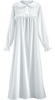 Women's Long Cotton Flannel Granny Nightgown