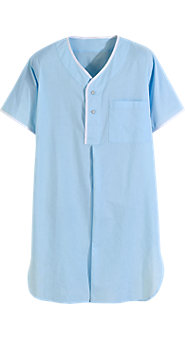 Blue Batiste Nightshirt