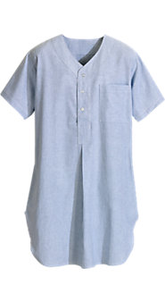 Striped Cotton Broadcloth Nightshirt