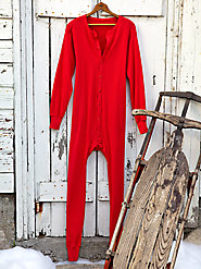 Men's Cotton Union Suit: All Warmth, No Bulk
