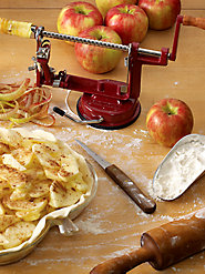 Sturdy Cast Iron Apple Peeler Peels and Cores in One Step