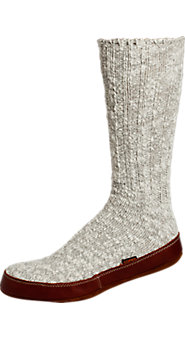 Acorn Cotton-Rich Tweed Slipper Socks for Men and Women