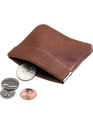 Deerskin Coin Purse Snaps Shut to Keep Your Change Secure