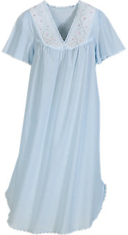 Womens Batiste Flutter Sleeve Nightgown