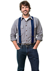 "Genuine 2""-Wide Vermont Comfort Suspenders with Clips in 2 Sizes"