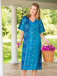 Move Freely in Our Cotton V-Neck Marine Muumuu