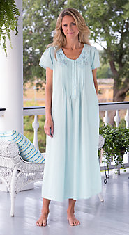 Lace-Trimmed Cotton Nightgown