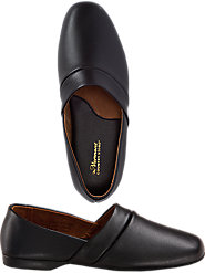 Men's Leather Slippers Are Genuine Leather Inside and Out, Available in Two Widths