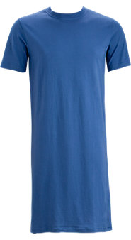 Crew-Neck Short-Sleeve Cotton Knit Sleepshirt