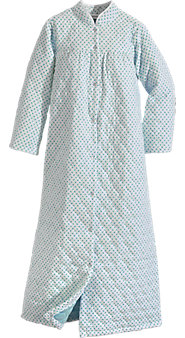 Quilted Full-Length Flannel Robe