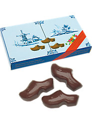 Creamy Dutch Solid Milk Chocolate Shoes Made in Wooden Molds