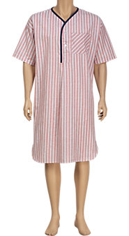 100% Cotton Nightshirt in Three Fresh Seersucker Stripes
