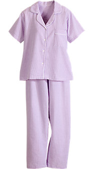 100% Cotton Pajamas in Striped Seersucker Are Warm-Weather Classics