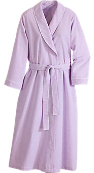 Classic Striped Seersucker Cotton Bathrobe