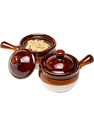 Our Lidded Ceramic French Onion Soup Bowls Go from Oven to Table