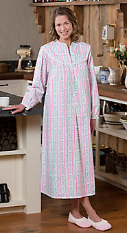 Lanz of Salzburg Tyrolean Print Flannel Nightgown