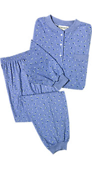 Cotton Ski Pajamas In Stretchy Knit