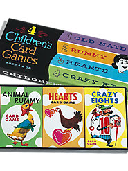 Old Maid, Rummy, Hearts, and Crazy Eights in One Fun-Filled Set