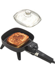 Skillet-for-One Has Snap-Off Handle for Easy Cleaning