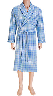 Cotton Madras Robe—Cool Cotton Comfort
