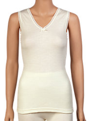 Fine Quality 100% Merino Wool Sleeveless Underwear Top from Australia