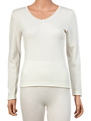 Fine Quality 100% Merino Wool Long-Sleeve Underwear Top from Australia
