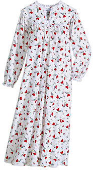 Women's Lanz of Salzburg Cardinal Flannel Nightgown