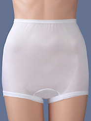 Long-Torso Comfort-Leg Briefs in Nylon Tricot