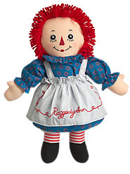 Raggedy Ann, with the Button Eye and Embroidered Heart You Remember