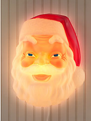 Light-Up Santa Face: This Classic Jolly Old Soul Is Made from the Original 1950s Mold