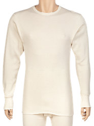 Military-Issue Thermal Underwear in Expedition-Weight 100% Combed Cotton, Rated for Extreme Cold