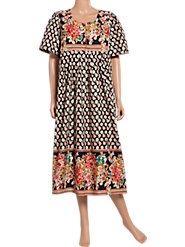 Provincial-Print Muumuu: 100% Cotton Comfort with a French Flavor