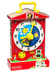 Fisher-Price Music Box Teaching Clock Makes Learning to Tell Time Fun