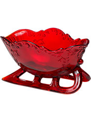 Ruby-Glass Sleigh from Mosser Will Grace Your Family Holiday Table for Generations