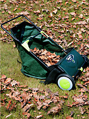 Eco-Friendly Green Mountain Leaf Sweeper Tidies Up Lawns Cheaply,  Simply, and Quietly