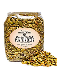 Shelled Dry-Roasted Pumpkin Seeds, Ready to Eat by the Handful