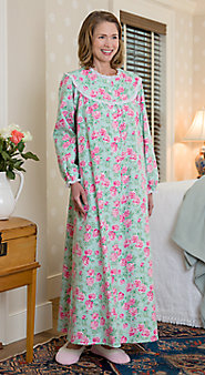 Lanz of Salzburg Nantucket Rose Flannel Nightgown