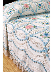 Vintage-Style Rose Chenille Bedspread, a Focal Point of Beauty, Comfort, and Quality