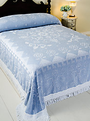 Hobnail Cotton Bedspread Is an Early American Design