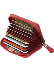 Zip-Shut Leather Accordion Wallet Holds All the Cards You Need