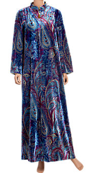 Breathtaking Pampering Paisley Velour Robe: Lounge in the Lap of Luxury