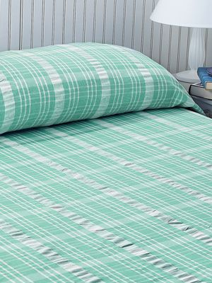 Plaid Cotton Seersucker Bedspread Lightweight Bedcover