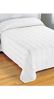 Solid Seersucker Cotton Bedspread