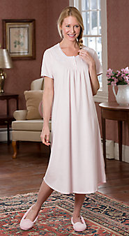 Womens Sweet Dreams Cotton Knit Nightgown