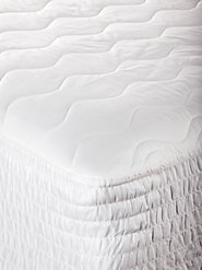 Nonallergenic 100% Cotton Mattress Pad for All-Year Comfort