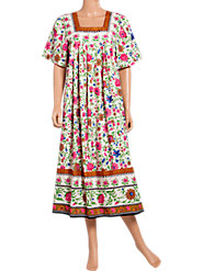 Satisfy Your Floral Fancy in Our Summer Garden Muumuu
