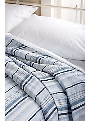 100% Cotton Bedspread in Pastel Striped Seersucker Is as Cool and Refreshing as Sherbet